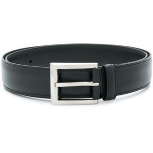 PRADA men classic leather black buckle belt (NEW)